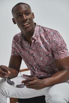 Chemise manches courtes à imprimé floral