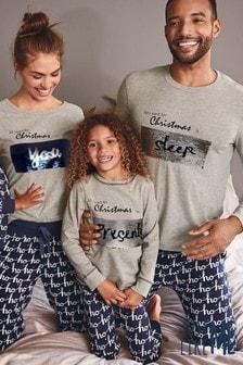 Детская пижама из коллекции для всей семьис пайетками (3-16 лет)