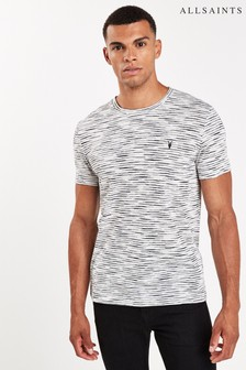 AllSaints Grey Mixed Stripe Kora T-Shirt