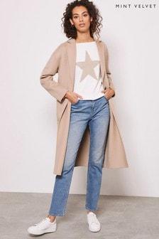 Mint Velvet Camel Split Seam Cocoon Coat