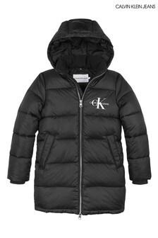 Calvin Klein Jeans Black Essential Padded Coat