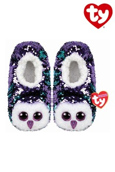 Ty Beanie Moonlight The Owl Sequin Slippers