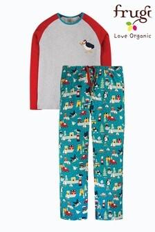 Frugi GOTS Organic Men's Christmas Pyjamas - Puffin Post
