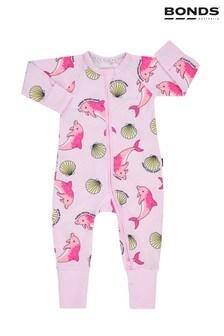 Pijama întreagă cu fermoar Bonds roz