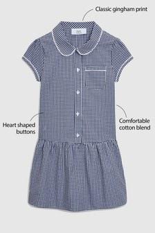 Kárované šaty so zníženým pásom (3 – 14 rok.)