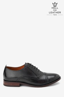 Leather Toe Cap Oxford Shoes