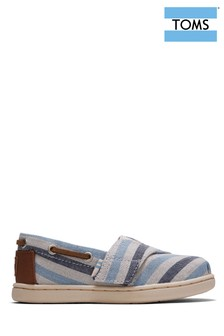 TOMS Tiny Navy Stripe Espadrilles
