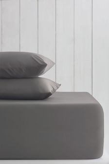 Charcoal Grey Cotton Rich Extra Deep Fitted Sheet