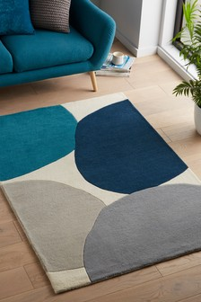 Blue Artist Abstract Rug