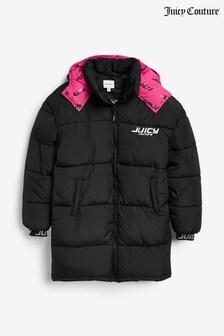 Удлиненная дутая куртка Juicy Couture