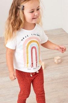 Tričko s dúhou s nášivkami (3 mes. – 7 rok.)