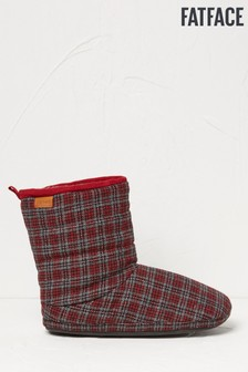 FatFace Red Lewis Mini Check Boots