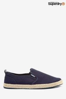 Superdry海軍藍懶人鞋款