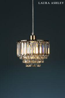 Laura Ashley Brass Vienna Crystal Easy Fit Pendant