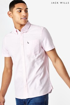 Jack Wills Pink JW Stableton Oxford Shirt