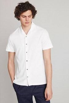 Short Sleeve Revere Collar Shirt
