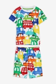 Пижама с шортами и принтом автомобилей (9 мес. - 8 лет)