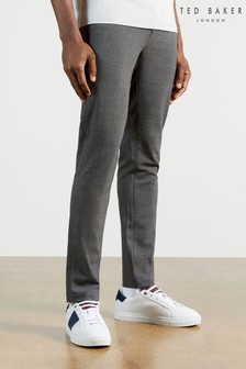 Ted Baker Grey Nile Super Slim Fit Check Trousers