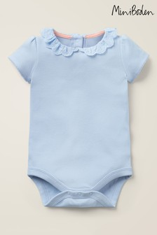 Boden Blue Detailed Collared Bodysuit