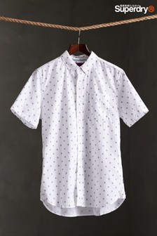 Superdry White Print Short Sleeve Shirt