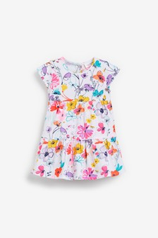 Bright Floral Jersey Dress (0mths-2yrs)