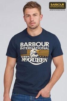 Barbour® International Navy Steve McQueen Eagle T-Shirt