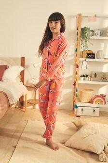 Jersey Button-Through Pyjamas (3-16yrs)