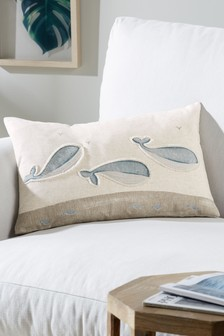 Nautical Whale Family Cushion