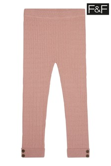 F&F Pink Knitted Leggings