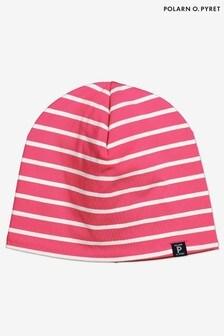 Polarn O Pyret Purple Organic Stripe Beanie Hat