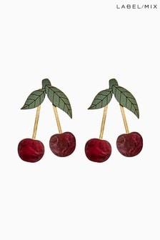 Mix/Wolf & Moon - Orecchini a forma di ciliegia