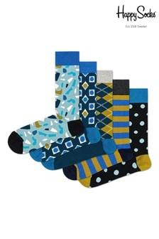 Happy Socks Blue/Stone Socks Five Pack
