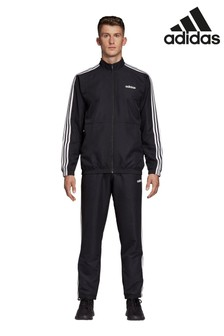 adidas Black Team Sports 3 Stripe Woven Tracksuit