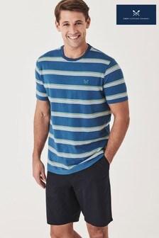 חולצת טי כחולה שלCrewClothing עם פסים