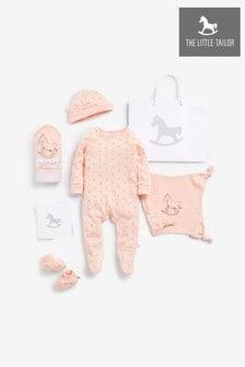 The Little Tailor Pink Blanket & Comforter, Booties Gift Set