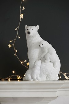 Glitter Polar Bear Family