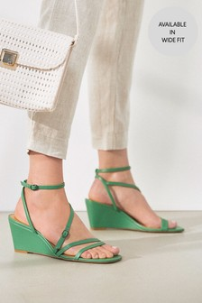 Strappy Cork Wedges
