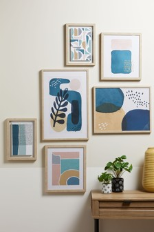 Set of 6 Abstract Framed Art