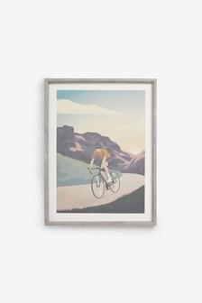 لوحة مطبوعة دراجات في إطار