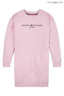 Tommy Hilfiger Pink Essential Sweatshirt Dress