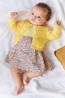 Ditsy Floral Printed Dress (0mths-2yrs)