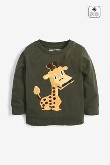 Легкий джемпер на молнии с жирафами (3 мес.-7 лет)