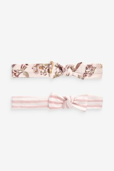 2 Pack Floral/Stripe Headbands (0mths-2yrs)