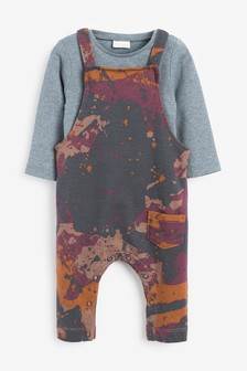 Jersey Dungarees And Bodysuit Set (0mths-3yrs)