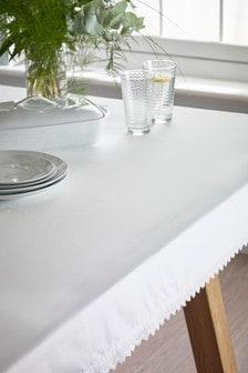 Lace Trim Tablecloth