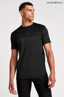 חולצתטי שלEmporioArmani עם לוגובסגנון צללים