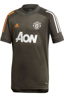 adidas Green Manchester United 20/21 Training T-Shirt