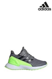 adidas Run Grey/Green RapidaRun Junior Trainers