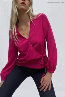 French Connection Crepe Light Wrap Over Top