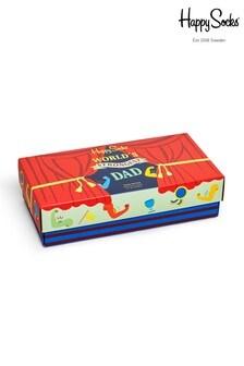 Happy Socks 父の日ソックス 3 足組ギフトボックス